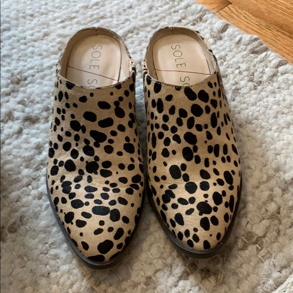 Sole Society Shoes | Leopard Mules Sz 7